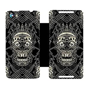 Skintice Designer Flip Cover with hi-res printed Vinyl sticker wrap-around for Micromax Canvas Fire 4 A107