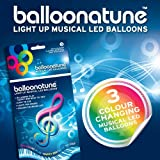 3 pack Colour Changing LED Balloonatune Balloons. Balloons Plays