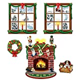 "Beistle 20213 Printed Indoor Christmas Décor Props, 15"" to 49"", 5 Pieces In Package"