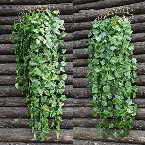 Dalakin Artificial Hanging Ivy Vine Leaf Garland Fake Foliage Flowers Garland Decor Home