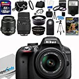 Nikon D3300 24.2 MP CMOS Digital SLR Camera (Import Model) with 18-55mm f 3.5-5.6G AF-S DX VR Lens and Sigma 70-300mm f 4-5.6 SLD DG Macro Lens with built in motor + 32GB Deluxe Accessory Kit