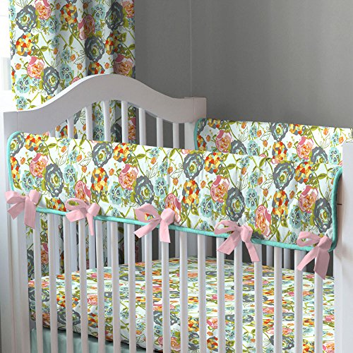 Pink And Teal Baby Bedding 1923 front