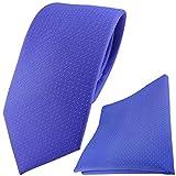 Seidenkrawatte + Einstecktuch gepunktet - verschiedenen Farben zur Auswahl - Krawatte 100% Seide