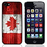 BZ Gadget Vintage Wood Canadian Flag Design Hard Case Cover for Apple iPhone 5 & 5S