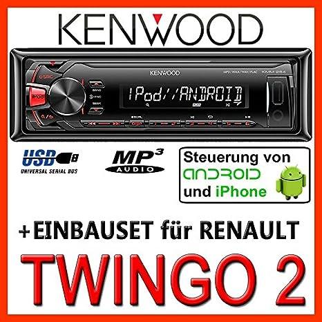 Renault twingo 2-kenwood kMM - 264/mP3/uSB avec kit de montage