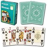 Modiano 100% Plastic Playing Cards Cristallo 4 PIP JUMBO INDEX (Dark Green)