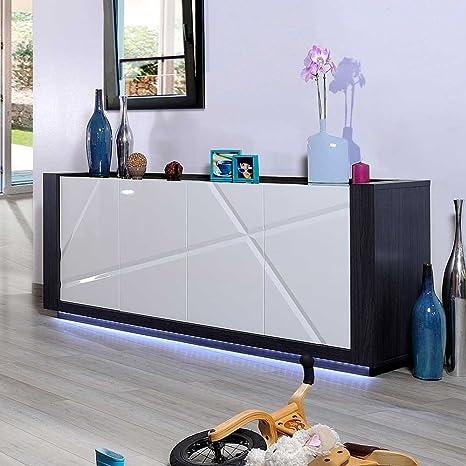 Hochglanz Sideboard mit LED Beleuchtung 200 cm breit Pharao24