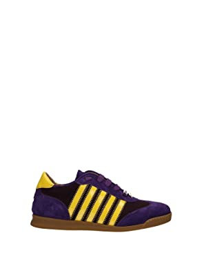 W14SN419V081M468 Dsquared2 Sneakers Homme Chamois Violet  Chaussures et  Sacs. d5c8f9936cef