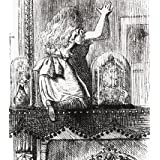 Alice stepping through the looking glass, by John Tenniel (V&A Custom Print)