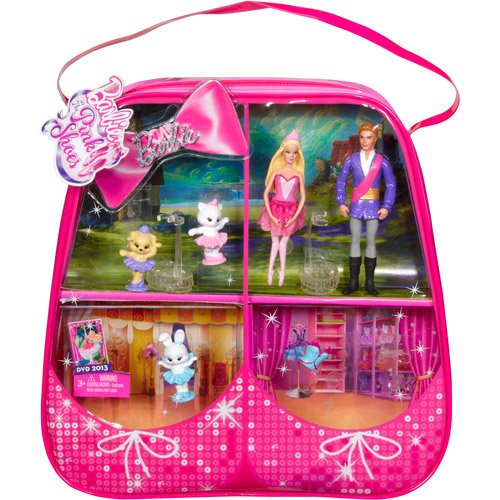 Barbie Pink Shoes Small Doll Gift Set
