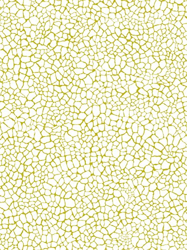 Decopatch Decoupage Paper Mache - White And Gold River Rocks 540 F