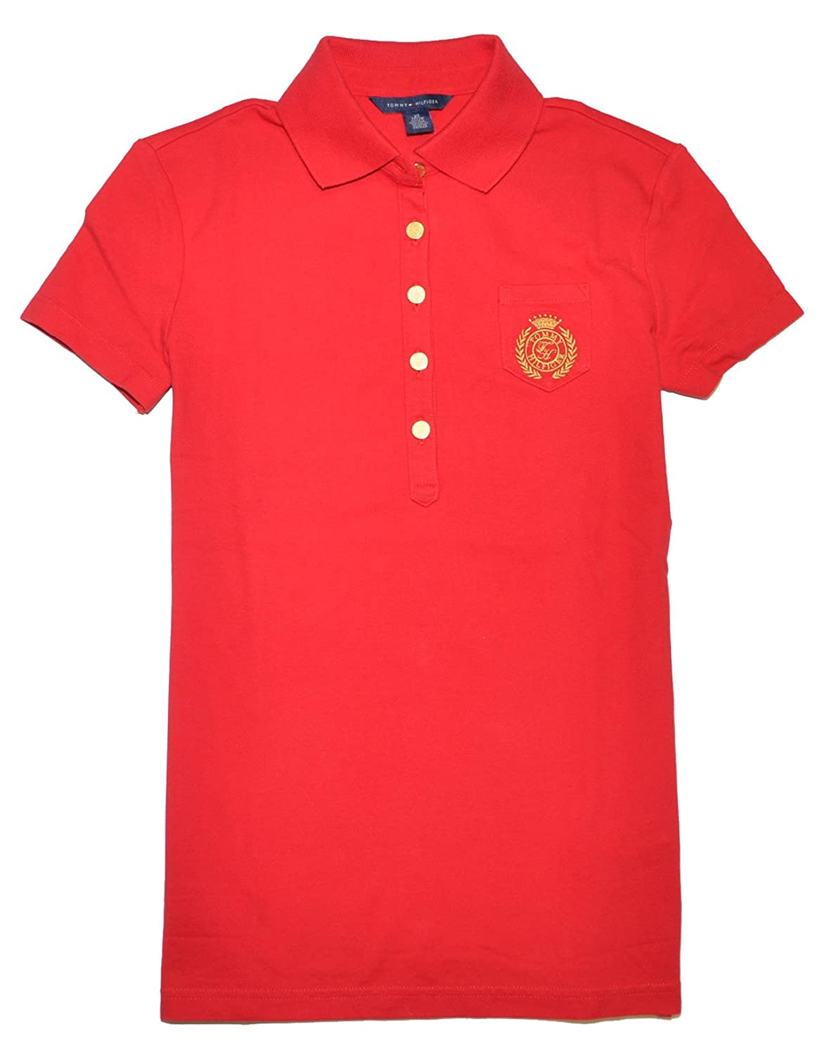 Tommy hilfiger t shirts tommy hilfiger women crown red for Amazon logo polo shirts