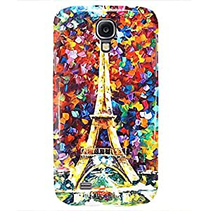 Eiffel Tower Colorful Art Design Hard Back Case for Samsung Galaxy S4