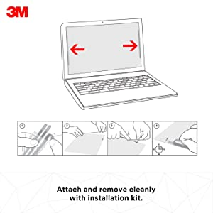 3M Privacy Filter for 14 Diagonal Widescreen Laptop, Protects your confidential information, Reduces blue light (PF140W9B)