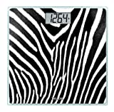 Taylor Glass Digital Bath Scale, Zebra