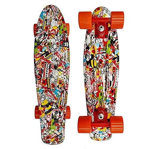 wiseminnie-retro-skateboards-mini-board-complete-22-plastic-boards-cruiser-longboard-graffiti-graphi