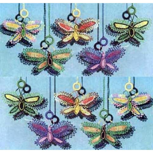BUTTERFLY SHADE PULLS - A Vintage 1951 Crochet / Tatting Pattern
