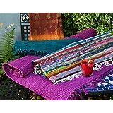 Fair Trade Hand Loomed Multi Coloured Rag Rug 60cm x 90cm