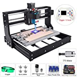 5.5W Laser Engraver CNC 3018 Pro Engraving Machine, XYZ Working Area 11.8x7.1x1.8inch, GRBL PCB PVC Wood Router CNC 3 Axis Milling Machine with Offline Controller (CNC 3018 Pro, 5.5W Laser Module) (Tamaño: Large)