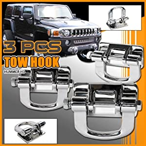 Amazon.com: Hummer H3 Accessories - Stainless Steel Tow ...