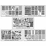 Bundle Monster 5pc Blogger Collaboration Nail Art Polish Stamping Plates - Set 1