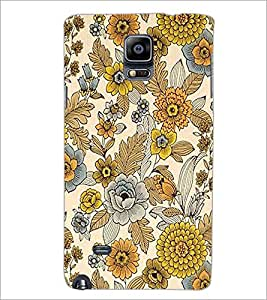 PrintDhaba Floral Design D-1443 Back Case Cover for SAMSUNG GALAXY NOTE 2 (Multi-Coloured)