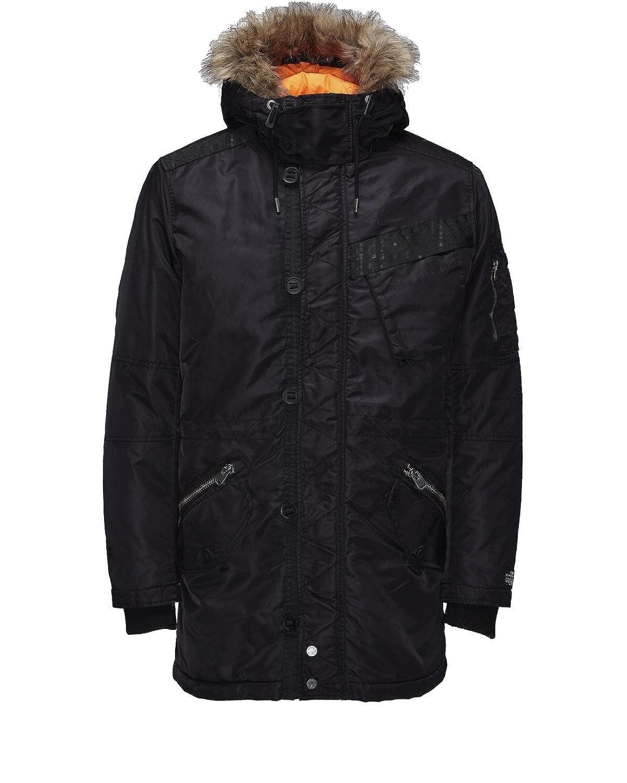 Jack & Jones Herren Jacke jjcoJustic Parka Jacket 12092922 schwarz jetzt kaufen