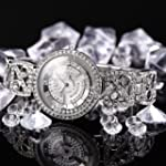 WEIQIN Sliver Bling Crystal Rotating...