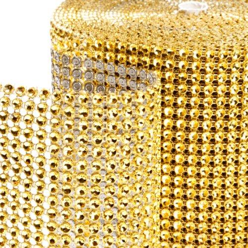 Dress My Cupcake Diamond Rhinestone Wrap, 10-Yard, Gold