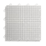 BlockTile B2US4130 Deck and Patio Flooring Interlocking Tiles Perforated Pack, White, 30-Pack