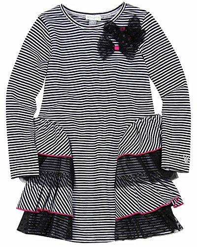 Petit Lem Little Girls' Glamorous Stripe Long Sleeve Knit Dress