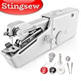Stingsew Portable Sewing Machine, Mini Sewing Professional Cordless Sewing Handheld Electric Household Tool - Quick Stitch Tool for Fabric, Clothing, or Kids Cloth Home Travel Use