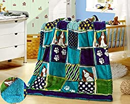 New Baby Size Super Soft Blanket Hight Quality 100% Polyester Animal Cartoon Bed Plush Throws Puppy 39\
