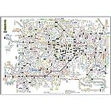 都市部路線図1 東京(関東) B3ミニサイズ 漢字表示ポスター ビジネスに 【路線図屋】