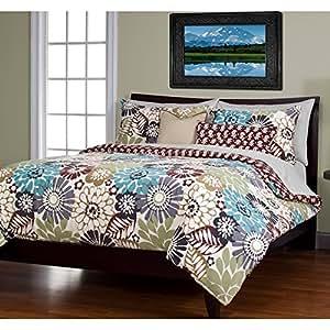 sis covers 6 piece blooming bulb harvest duvet set california king duvet cover sets. Black Bedroom Furniture Sets. Home Design Ideas