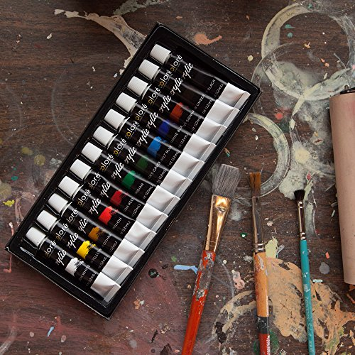 Colore acrylic paint set of 12 professional grade pigments for Acrylic mural paint supplies