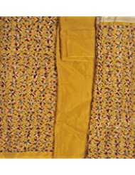 Exotic India Phulkari Salwar Kameez Fabric From Punjab With Ari Embroidery All-O