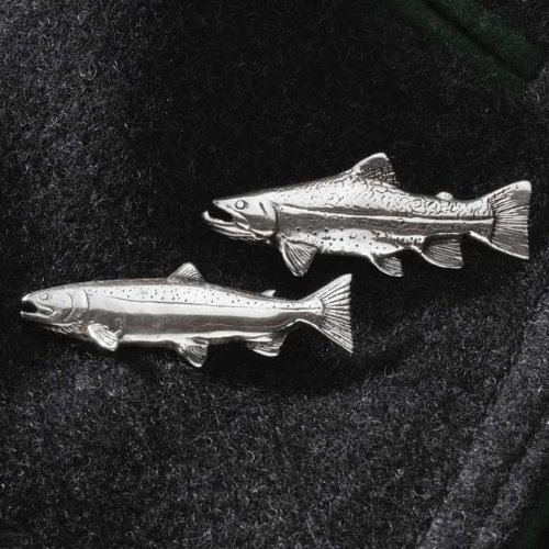 Fish Lapel Pins, Type: Rainbow Trout