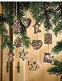 Deko Hänger Weihnachten Lebkuchen Deko aus Terracotta 10er...