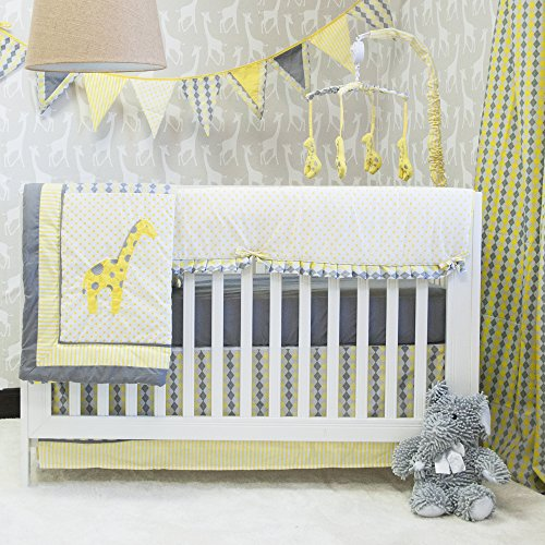 Pam Grace Creations Argyle Giraffe Mix & Match 10 Piece Crib Bedding