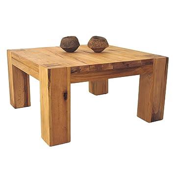 Couchtisch Wohnzimmertisch Braxton, 70x70 cm, Massivholz Holz Eiche natur geölt