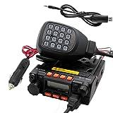 TALKCOOP KT-8900 25/20W UHF VHF Mobile radio 136-174/400-480MHz Mini Car Radio Amateur Radio+ Free Programming Cable and CD