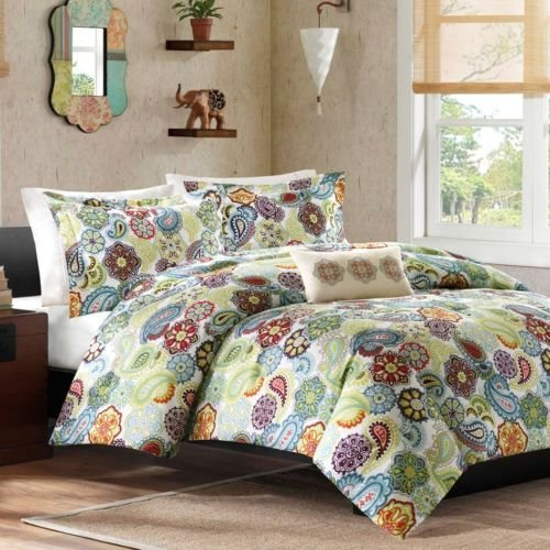New Bed Bag Twin Xl Full Queen Paisley Medallion Floral Cute 4 Pc Comforter Set front-889807