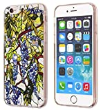 Cell Phones Accessories Best Deals - iPhone 6S Case Grapes,Apple iPhone 6 & 6S TPU Soft Clear Full Protective Case The Abstract Grapes Pattern