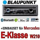 Mercedes-E-Klasse-W210-BLAUPUNKT-Brisbane-230-MP3USB-Autoradio-inkl-Bluetooth-Einbauset
