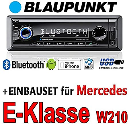 Mercedes-benz classe e w210 brisbane bLAUPUNKT - 230/mP3/uSB avec kit de montage autoradio avec bluetooth