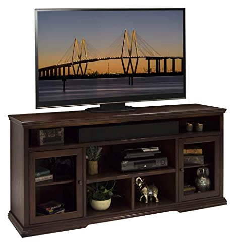 73.75 in. Tall TV Cabinet in Danish Cherry Finish