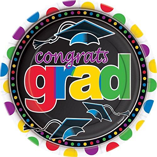 Grad Spark Graduation Dessert Plates, 8ct