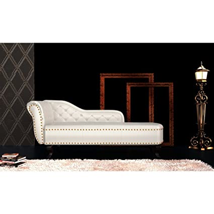 Chaise longue Chesterfield poltrona, crema