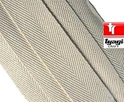 Tyagi Craft 12Mm Pure Cotton Tape Beige Webbing Strap Tent Tags Loop Ribbon Border Trim Bunting Tape Apron Upholestry Twill Edging Craft Herringbone 10M